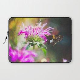 Butterfly on Bee balm Laptop Sleeve