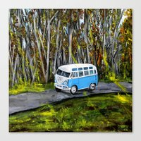 vw bus Canvas Prints featuring VW Bus by ThisArtToBeYours