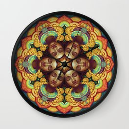 Metta Mandala White Wall Clock