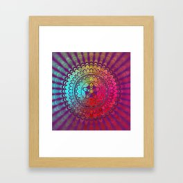 Mandala Flower Wheel Framed Art Print