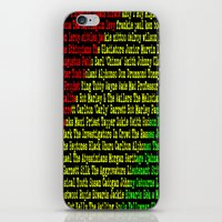 reggae iPhone & iPod Skins featuring Reggae Artist - Roll Call by The Peanut Line