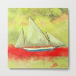 Abstract-ship Metal Print