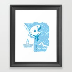 A is for Abominable Snowman Framed Art Print