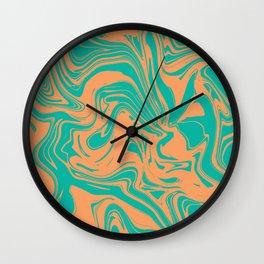 Liquid marble texture design 034 Wall Clock