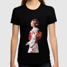 Polygonal Kimono girl 2 T-shirt
