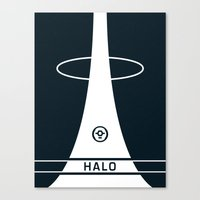 halo Canvas Prints featuring HALO by Prodimator