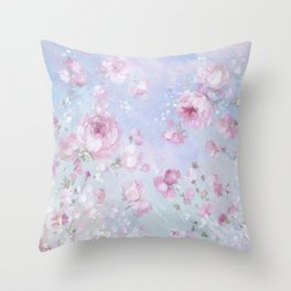 Meadow in Bloom Throw Pillow