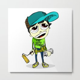 Graffiti Boy Metal Print