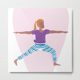 Empowered Yoga Pose Metal Print