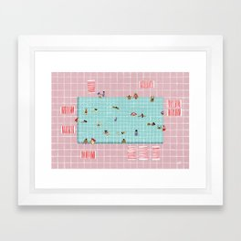 Pink Tiles Framed Art Print