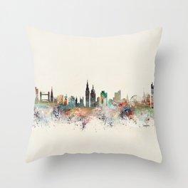 london england skyline Throw Pillow