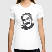 marx T-shirts featuring Groucho Marx by Alejandro de Antonio Fernández