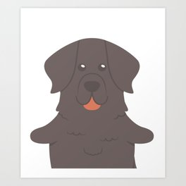 Huge Newfoundland Art Print