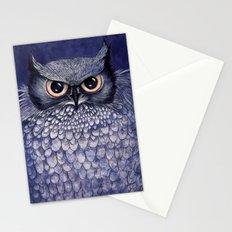 La Sagesse du Hibou (The Blue Owl) Stationery Cards