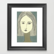 grey portrait Framed Art Print