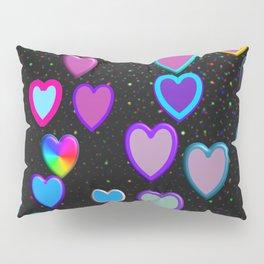 Confetti Hearts Pillow Sham