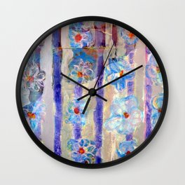 Love Among the Flowers Wall Clock