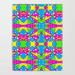 80s Style Bold and Fun Retro Pattern Poster