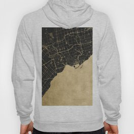 Toronto Gold and Black Street Map Hoody