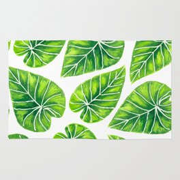 Tropical leaves Rug
