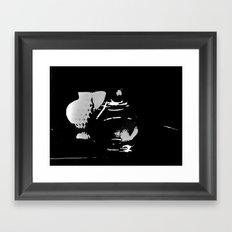 Hearts in the Dark Framed Art Print