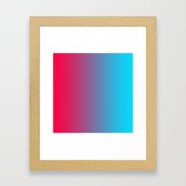Pink and Sky-Blue Gradient 010 Framed Art Print