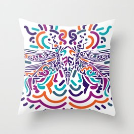 Colorful Fly Throw Pillow