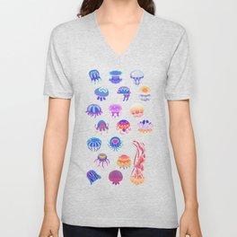 Jellyfish Day - pastel Unisex V-Neck