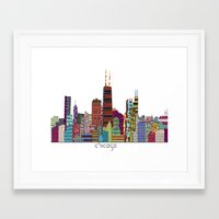 chicago bulls Framed Art Prints featuring Chicago  by bri.buckley