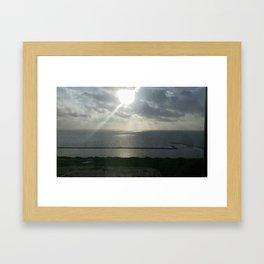 Through the Clouds Framed Art Print