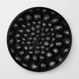Denim Silver Sea Shell Wall Clock