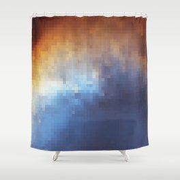 Galactic Squares #6 Shower Curtain