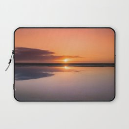Mindfulness in the Sunrise Reflection at Mediterranean Sea in Valencia, Spain Laptop Sleeve