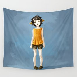Girl in shorts Wall Tapestry