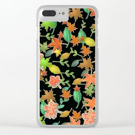 Herbstlaub colorful Clear iPhone Case
