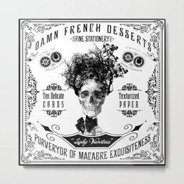 Victorian Vintage Ads Skull Tree VANITREE Metal Print