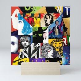 Musicals Collage Mini Art Print