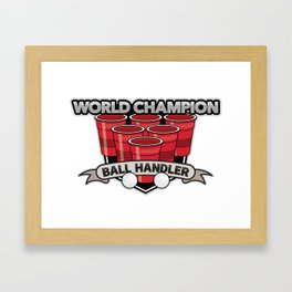 PenIsland Brewing Company World Champion Ball Handler Framed Art Print