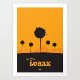 Dr. Seuss - The Lorax : Minimal poster Art Print