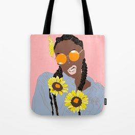 Believe in Yo Juice - Digital Black Goddess Vector Drawing Tote Bag