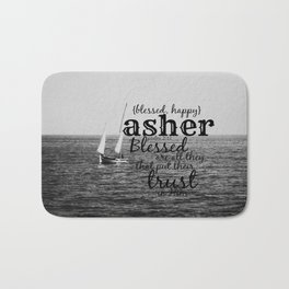 Asher blessed Bath Mat