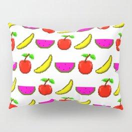 Retro Video Game Fruit Medley Pixel Art Pillow Sham