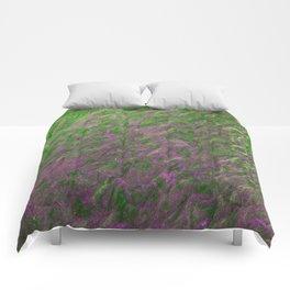 Green Purple Sand Comforters