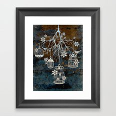 Bird Cage Chandelier Framed Art Print