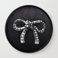 bow Wall Clocks featuring Bow by laurenrfphoto