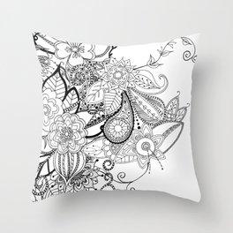 DOODLE MANIA Throw Pillow