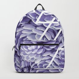 Triangle Lila Succulents Backpack