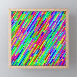 Rainbow Streaks Framed Mini Art Print