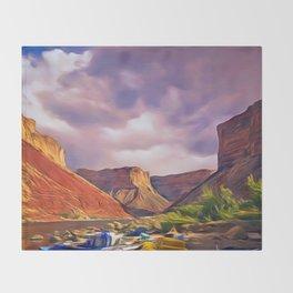 Grand Canyon Light Throw Blanket