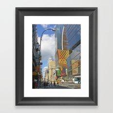 Enter Section Framed Art Print